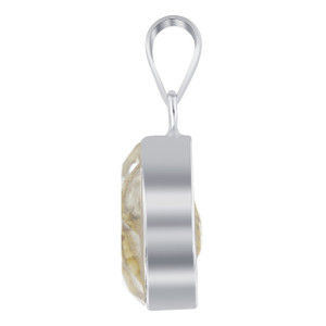 Pear Shape Clear Gemstone Bezel Setting Pendant