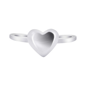 925 Sterling Silver 6mm Heart Ring #LWRS236