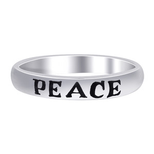 925 Sterling Silver 3mm Peace Band