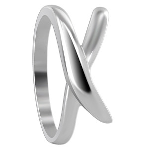 925 Sterling Silver 9mm wide Overlapping Design 2mm Ring
