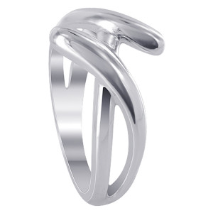 925 Sterling Silver 12mm Unique Split Design Ring