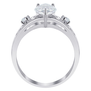 Pear Cubic Zirconia Prong Set Ring