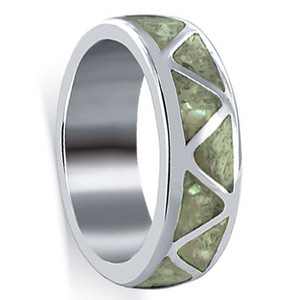 Mother of Pearl  Wedding Band Ring