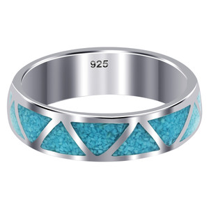 Turquoise Gemstone Band Unisex Ring