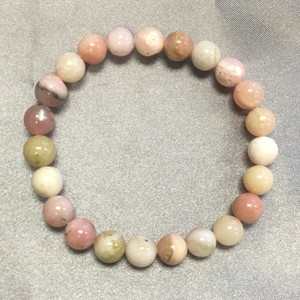 Pink Opal Gemstone Beads Stretch Bracelet