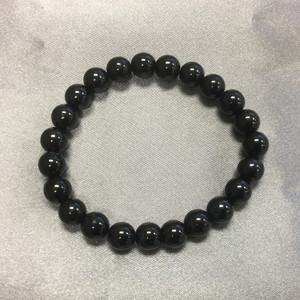 Black Tourmaline Gemstone Beads Stretch Bracelet