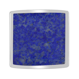 Square Blue Lapis Lazuli Gemstone Womens Ring