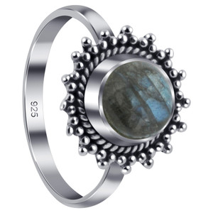 Sterling Silver Labradorite Gemstone Ring