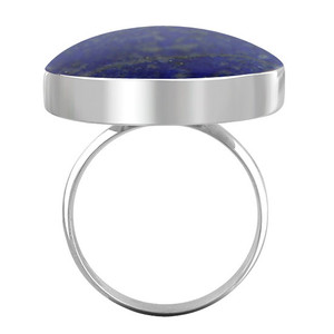 Blue Lapis Lazuli Gemstone Womens Ring