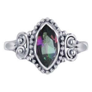 Marquise Topaz Gemstone Women's Ring