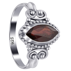 Marquise Garnet Gemstone Women's Ring