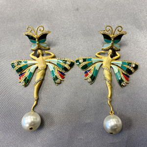 Ballerina Designer Bollywood Indian Dangle Earrings For Women