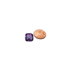 Cushion Cut Amethyst 7.5 CTW Gemstone Eye Clean Quality