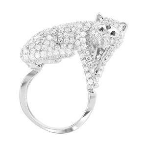 Cubic Zirconia Mounted Full Body Fox Ring