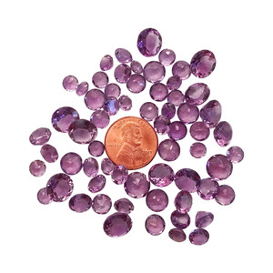 Round Cut Amethyst Gemstone