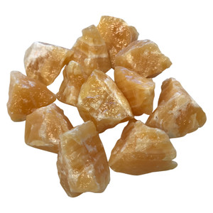 Natural Orange Raw Calcite Rough Crystals