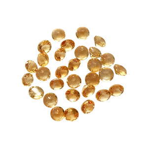 Round Cut Citrine Gemstone