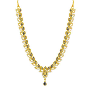 Gold Plated Sapphire Stone Jewelry Set