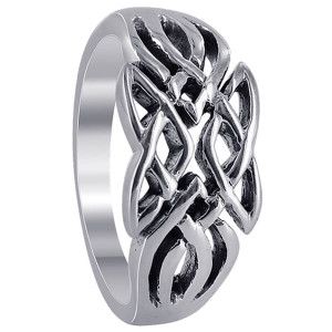 925 Sterling Silver Knot Design Ring