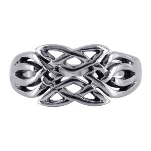 925 Sterling Silver Knot Design Ring #R023