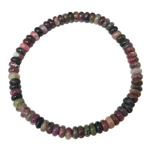 Tourmaline & Rhondelle Gemstone Stretch Bracelet