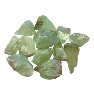 Raw Natural Green Calcite Crystal Stones