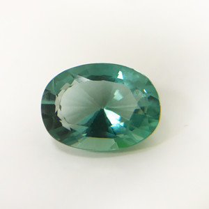 14 x 10mm Faceted Oval Sea Breeze Quartz