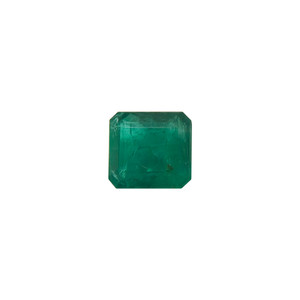 10mm x 9.5mm Natural Green Emerald Cut 5.35 CTW Gemstone