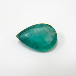 14.5 X 10mm Pear Shape Natural Green Emerald Gemstone
