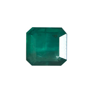 8 mm Princess Cut Green Emerald Gemstone
