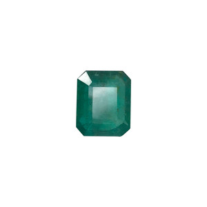 11.5mm x 10mm Natural Green Emerald Gemstone
