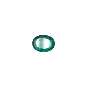 12mm x 9.1mm x 3.9mm Oval Natural Green Emerald Gemstone