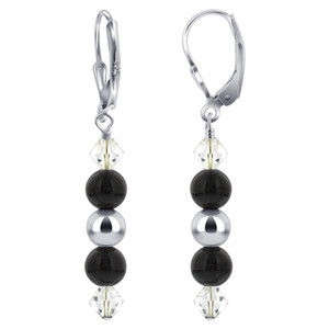 Swarovski Elements Crystal 925 Silver Drop Earrings