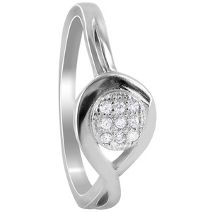 Round Cubic Zirconia Pave Set Rings