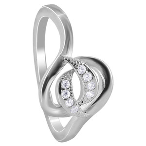 Cubic Zirconia Multi-Loop Rings