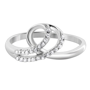 Sterling Silver CZ Loop Design Ring