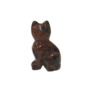 Natural Mahogany Cat Gemstone