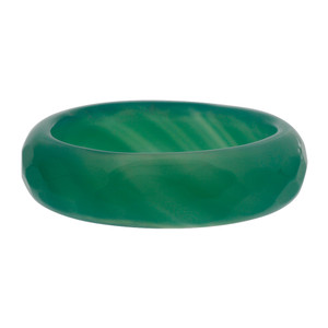 Simulated Dyed Green Agate Faceted Band
