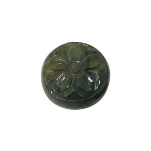 Flower Carved Round Labradorite 12mm