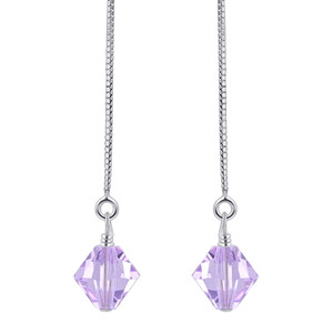 Lavender Crystal Handmade Earrings