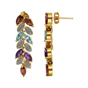 Multi Gemstone Stud Earrings