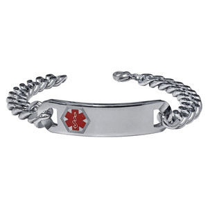 Engravable Medical Alert ID Bracelet