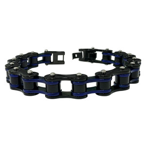 Men's Black Stainless Steel Bracelet