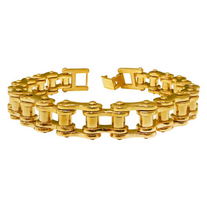 Stainless Steel Gold Tone Bracelet