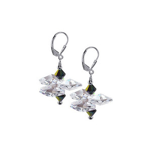 Vitrail & Clear Crystal Drop Earrings