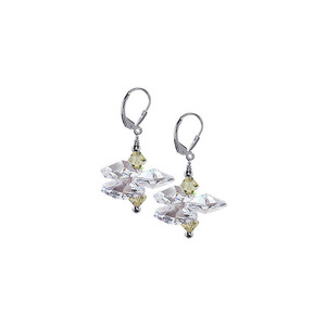 Clear Crystal Drop Earrings