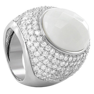 White Stone Cocktail Ring