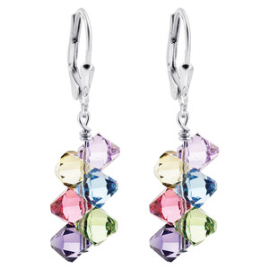 Swarovski Elements Multi Crystal Drop Earrings