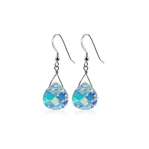 Clear AB Crystal Handmade Drop Earrings