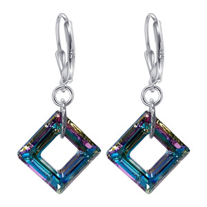 Vitrail Crystal Leverback Drop Earrings